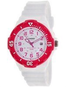 Picture of Casio Analog Hot Pink White Dial LRW-200H-4BVDF LRW-200H-4BV Women's Watch