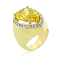 Picture of Yellow Pear Cubic Zirconia