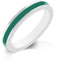 Picture of Green Enamel Eternity Ring