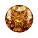Picture of 0.75 Ct Champagne Diamond size 5.5 mm I2 Clarity